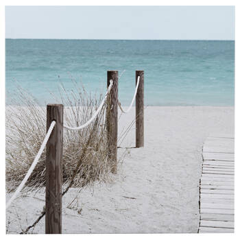 Pathway to the Beach Printed Canvas