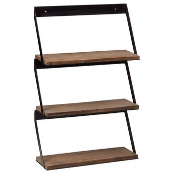Metal and Wood Wall Shelf