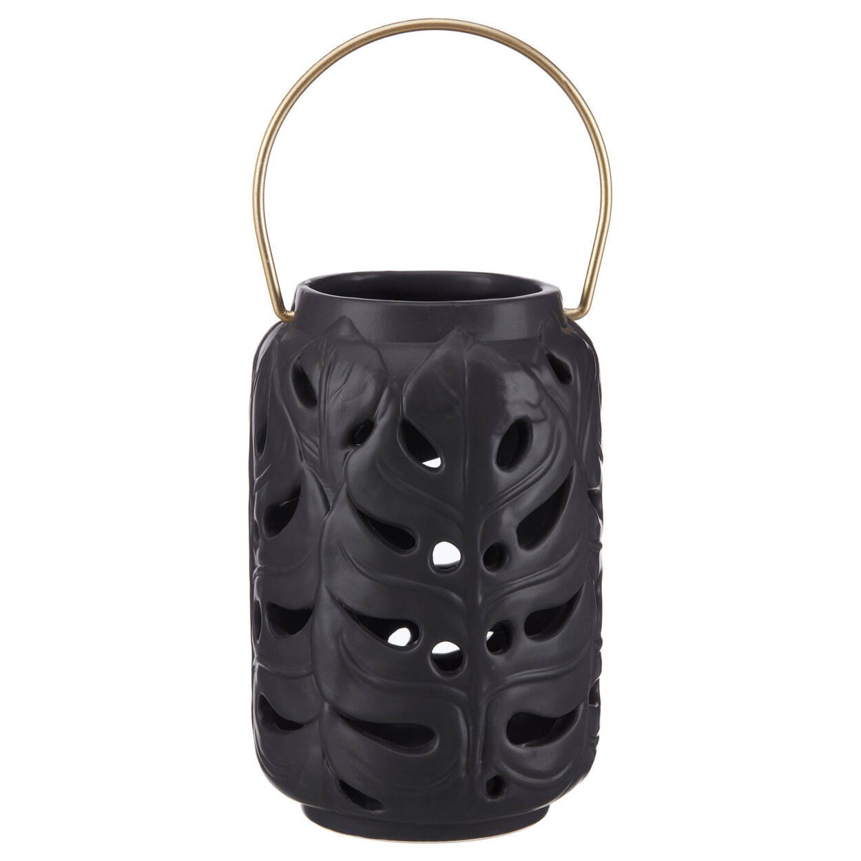Black Dolomite Lantern Candle Holder