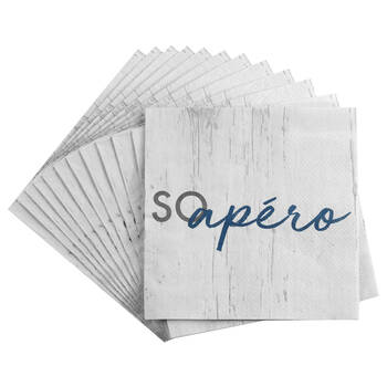 Set of 20 So Apéro Table Napkins
