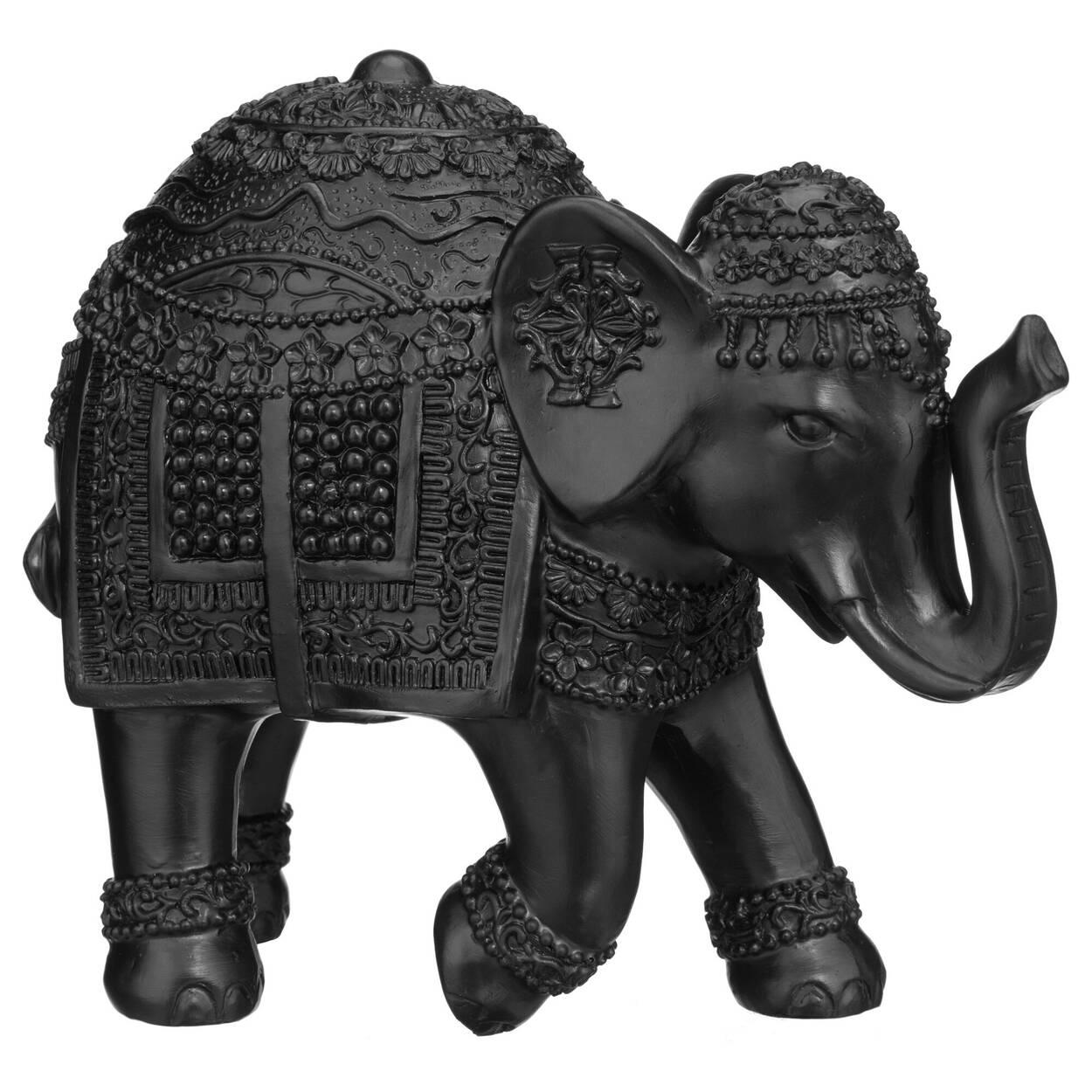 Éléphant décoratif en résine