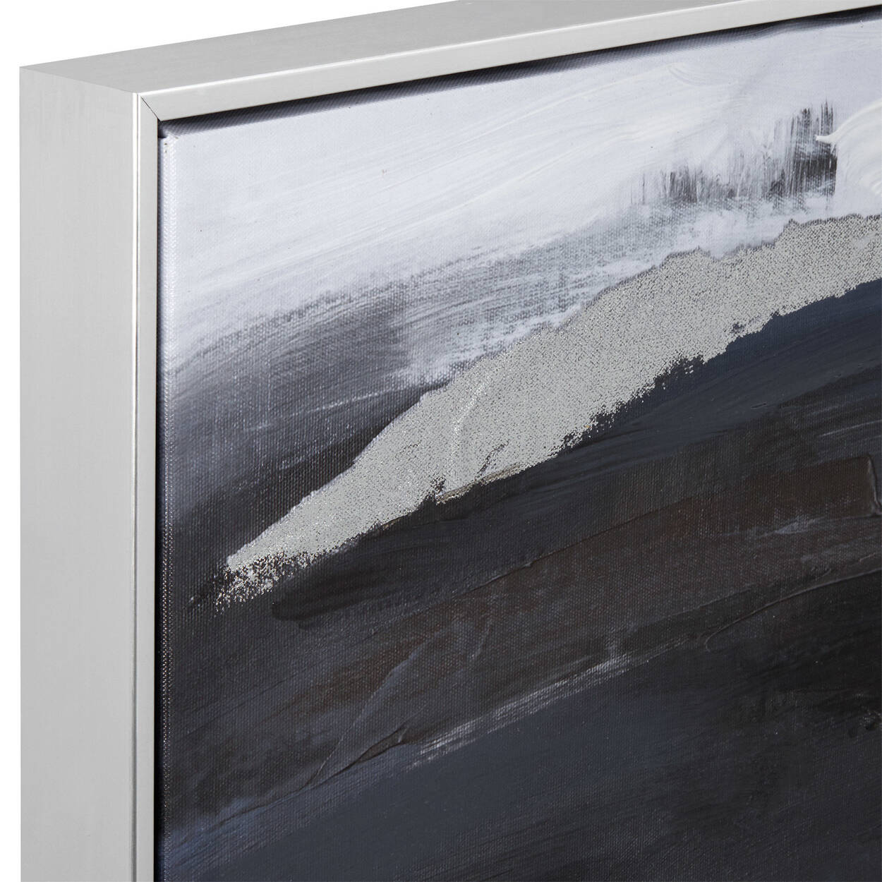 Framed Abstract Printed Canvas with Gel Embellishments