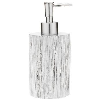 Wood Effect Resin Soap Dispenser