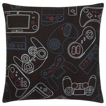 "Gaming Controllers Decorative Pillow 18"" x 18"""