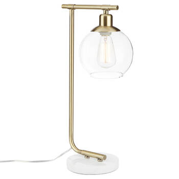 Metal, Marble and Glass Table Lamp