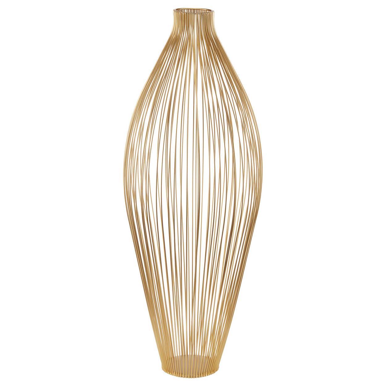 Metal Wire Floor Vase