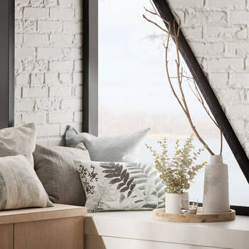Eucalyptus dans un pot de céramique