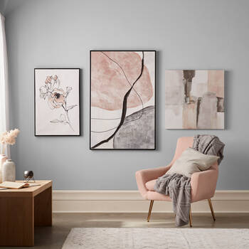 Sanded Blush Abstract with Foil Embellishment