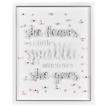 Sparkle Typography Framed Art