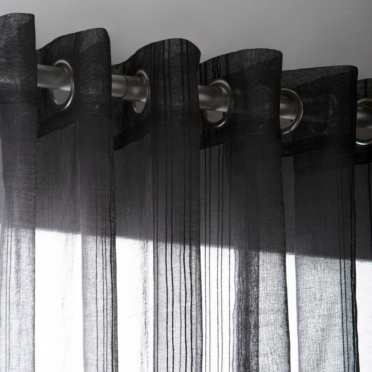 Rideau brodé semi-transparent Gusta