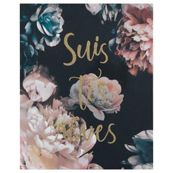 Suis tes rêves Floral Printed Canvas