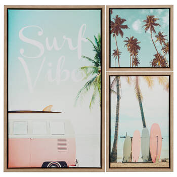 Set of 3 Canvases Surf Vibe