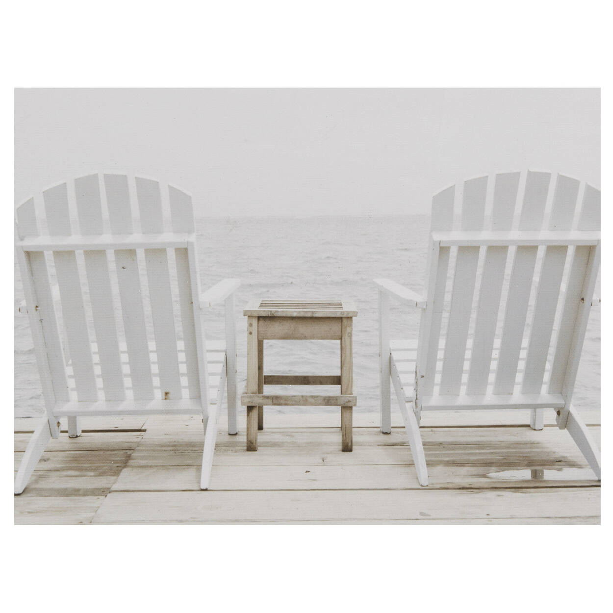 Adirondack Chairs on Dock Printed Canvas