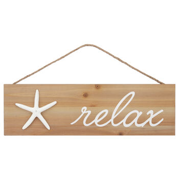 Relax Hanging Wall Plaque