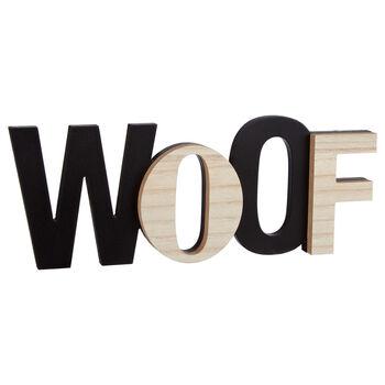 Mot décoratif Woof