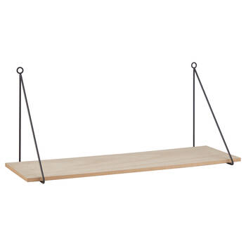 Natural Wood Rectangular Shelf