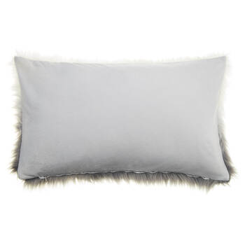 "Gobi Ombré Faux Fur Decorative Lumbar Pillow 13"" X 22"""