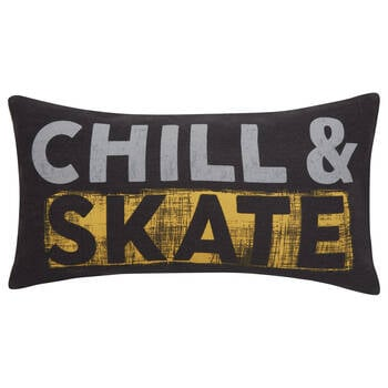 "Chill Skate Board Decorative Lumbar Pillow 12"" X 22"""