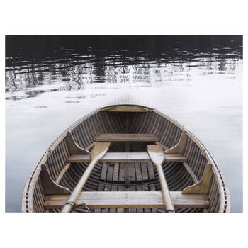 Boat with Paddles Printed Canvas