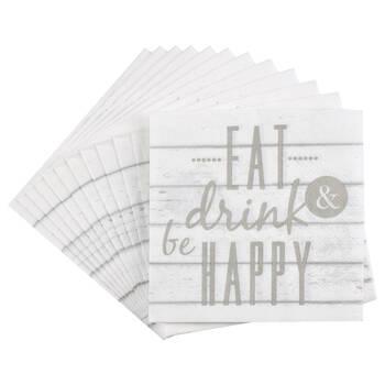 Set of 20 Happy Table Napkins