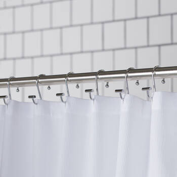 Set of 12 Chrome Shower Curtain Hooks