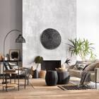 Table d'appoint bois naturel et métal noir