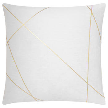 "Stricto Decorative Pillow with Foil Embellishment 19"" X 19"""