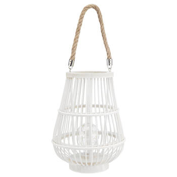 Rattan Lantern LED Table Lamp