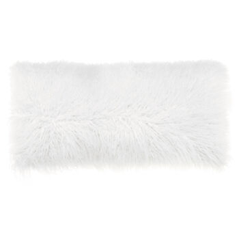 "Naadam Faux Fur Decorative Lumbar Pillow 15"" X 32"""