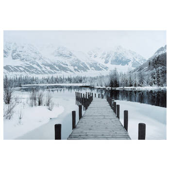 Winter Dock Printed Canvas