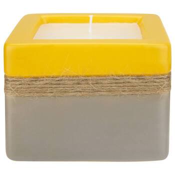 Candle in Two-Toned Ceramic Pot