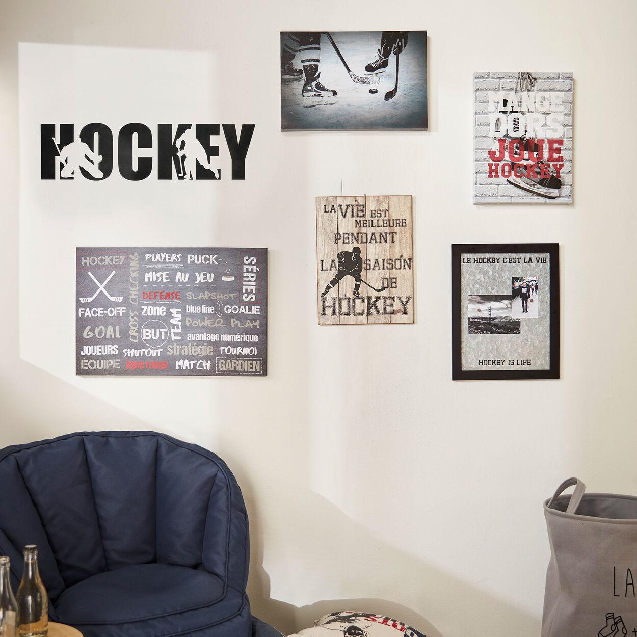 Hockey Wood Wall Plaque