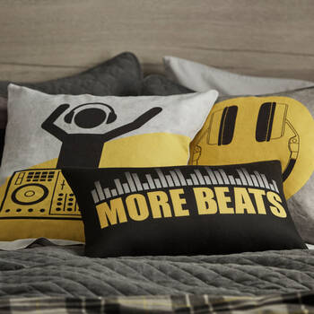 "More Beats Decorative Lumbar Pillow 13"" x 20"""