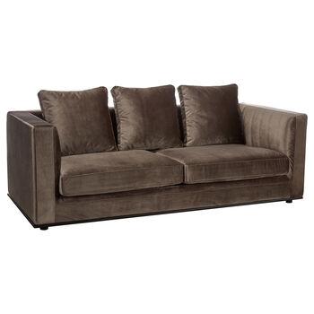 3-Seat Velvet Sofa