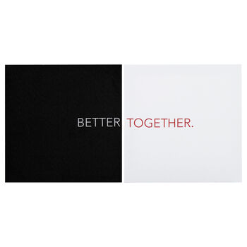 Tableau typographie Better Together