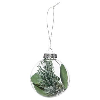 Greenery Glass Ornament