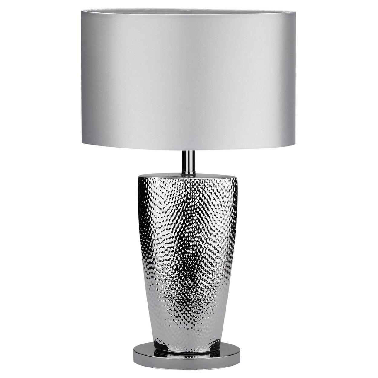 Chrome and Satin Table Lamp