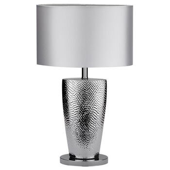 Chrome and Satin Table Lamp