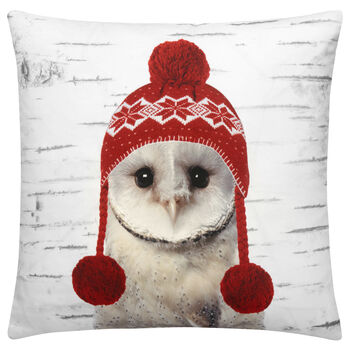 "Owl Decorative Pillow Cover 18"" X 18"""