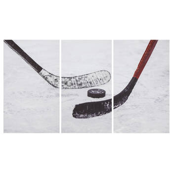Ensemble de 3 tableaux imprimés de hockey