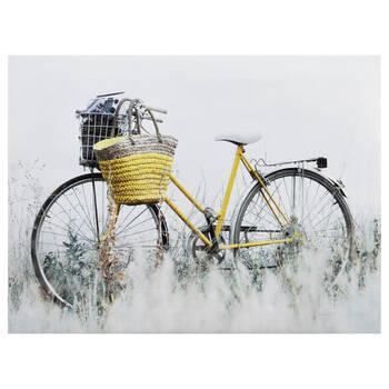 Yellow Bike Printed Canvas