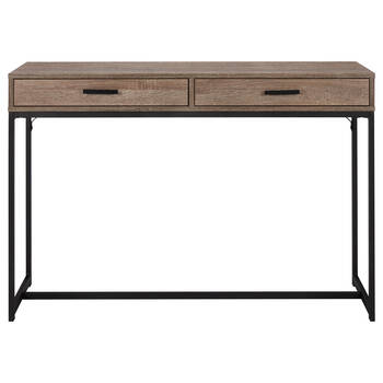 Veneer & Metal 2-Drawer Console