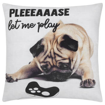 "Puggy Decorative Pillow 18"" X 18"""