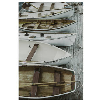 Boats on the Dock Printed Canvas