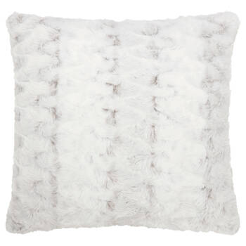 "Hare Faux Fur Decorative Pillow 20"" X 20"""