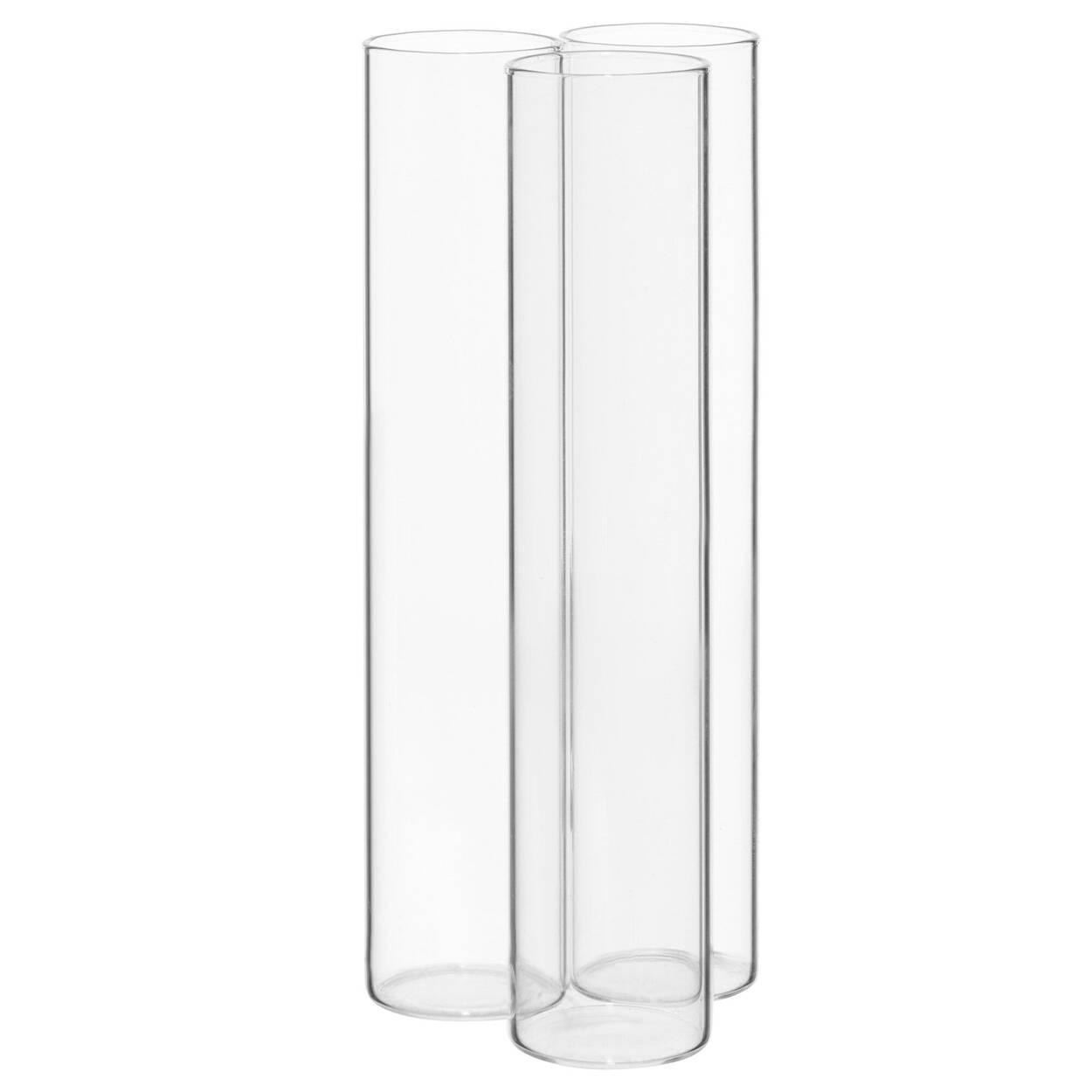 Vase tubulaire en verre