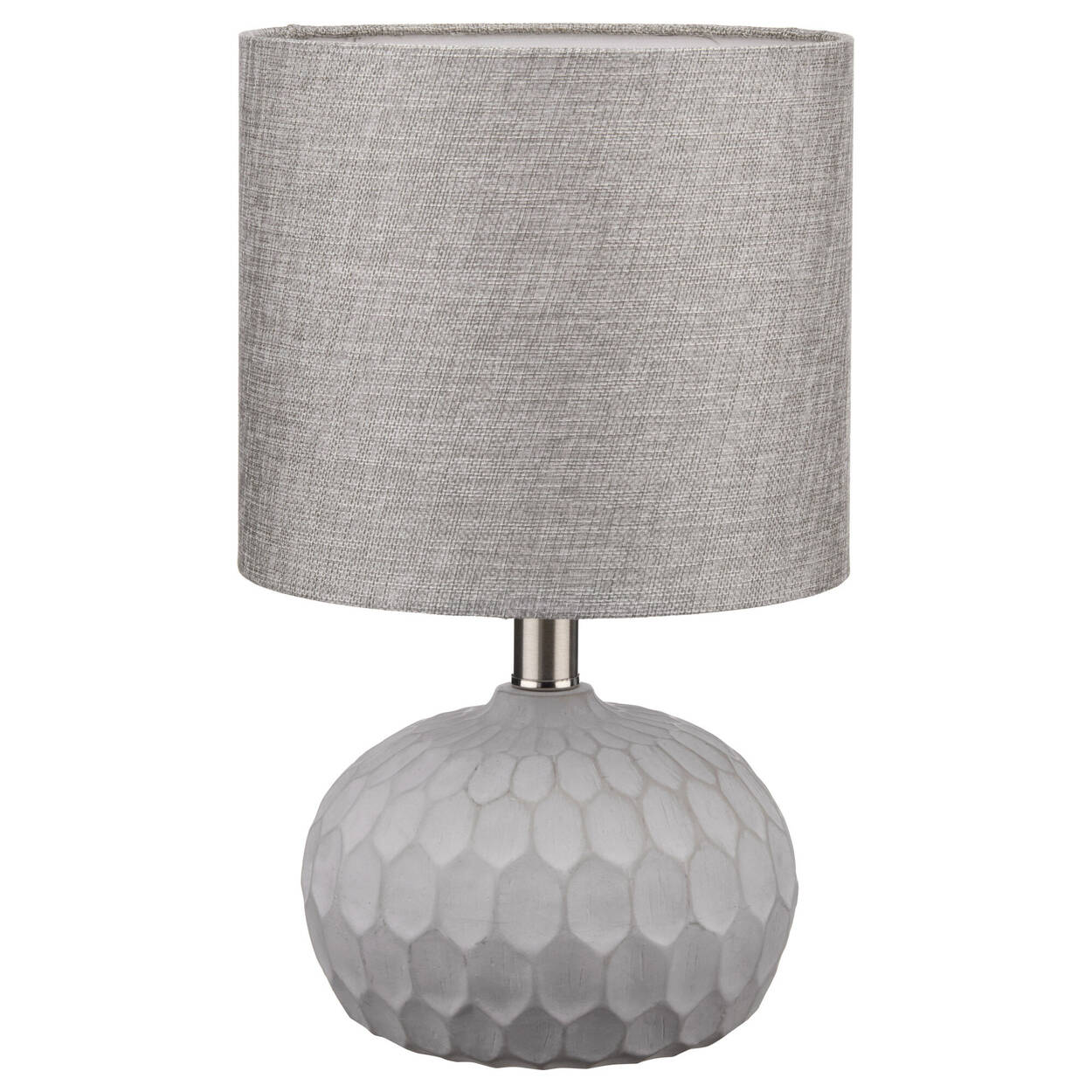 Concrete and Fabric Table Lamp
