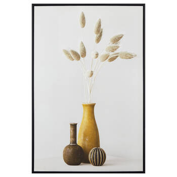 3 Vases Framed Canvas