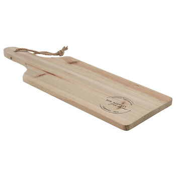 Wooden Cutting Board with Rope
