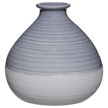 Two-Tone Blue Ceramic Bud Vase